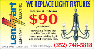 light fixture install replace lenhart villages