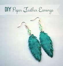 feather earrings s make paper feather earrings