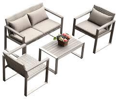 Grayson Piece Outdoor Sofa Set Contemporary Outdoor Lounge - Modern outdoor sofa sets