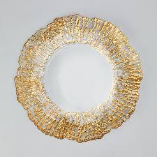 decorative glass plates u0026 chargers portofino international