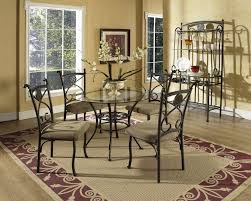 Rod Iron Dining Room Set Dining Tables Enchanting Wrought Iron Dining Room Table Base