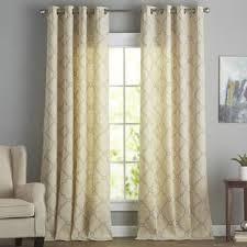 Gold Satin Curtains Yellow U0026 Gold Curtains U0026 Drapes You U0027ll Love Wayfair
