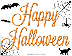 happy halloween image free printable halloween signs