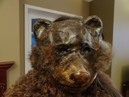 halloween paper mache masks scary teddy bear mask