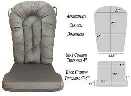 Rocking Chair Seat Repair Amazon Com Glider Rocker Replacement Cushion Set Grey Color
