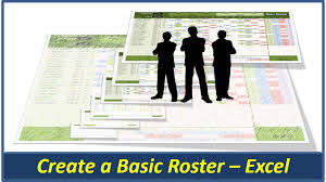 excel basic roster two new staff rosters online pc learning