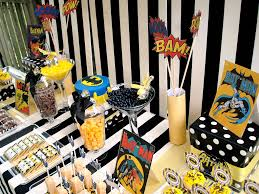 Birthday Table Decorations by Batman Rice Crispy Treats Table Decorations And Much More