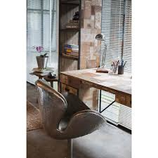 vieux bureau en bois bureau 2 tiroirs en métal et vieux bois de construction recyclé