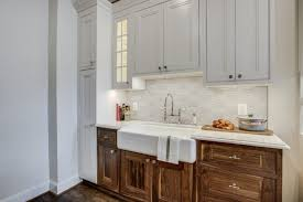 kitchen cabinets gray stain painted vs stained cabinets how to compare when to use both