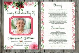 memorial card template printable funeral program template 31