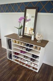 A Key To The Armoire Stylish Diy Shoe Rack Perfect For Any Room Diy Shoe Organizer