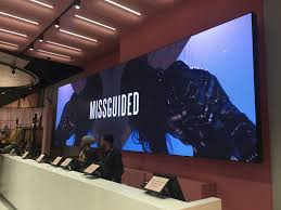 led videowalls and digital signage for missguided smart led