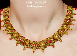 necklace link patterns images Beads magic patterns free pattern for necklace masai click on