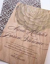 Wedding Invitations Cape Town Wood Wedding Invitations