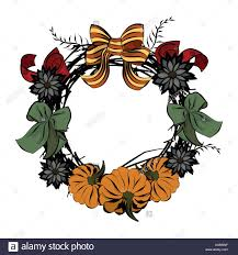 vintage wreath template thanksgiving day christian religion retro