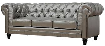 Gray Leather Sofa Unique Brown Tufted Leather Sofa 34 Photos Clubanfi
