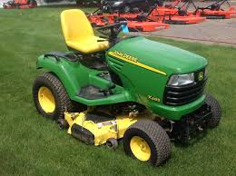 2003 john deere x485 54 riding lawn mower w 54 hyd snow blade