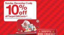 discount gift card target gift cards 10 sunday 12 3 wral