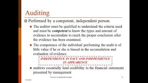Auditing Overview Of Auditing U0026 Assurance Lecture 1 Professor