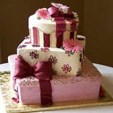 wedding cake gift boxes present cakes pink and brown gift box cake with high heel