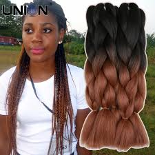 what kind hair use boxbraids aliexpress com buy marley braid hair blacktwo tone ombre kanekalon