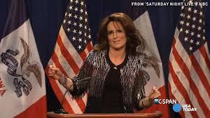 Snl Red Flag Tina Fey As Sarah Palin Endorsing Donald Trump Makes U0027snl U0027 Great Again