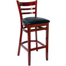 Bar Stool With Back And Arms Furniture Bs Ma Vnlbl Main Wood And Iron Bar Stools Ladder Back