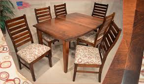 Amish Dining Room Chairs Amish Shaker Dining Table And Liberty Ladder Back Chairs Jasen39s