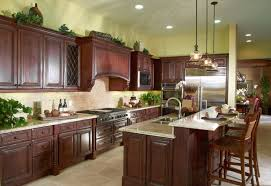 HighEnd Dark Wood Kitchens Photos Designing Idea - Kitchen with cherry cabinets