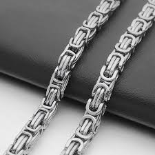 silver byzantine chain necklace images 9mm gold silver tone men 39 s stainless steel byzantine chain jpg