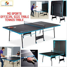 collapsible table tennis table folding ping pong table tennis tournament size game set indoor