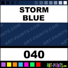storm blue artist gouache paints 040 storm blue paint storm