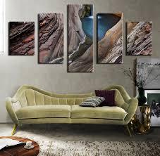 5pcs waterfall hamers gorge national park australia wall painting