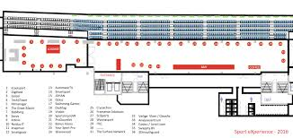 exhibition sport experience floorplan exhibition sport business day