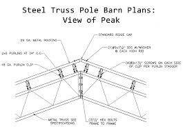gable barn plans steel trusses design examples for pole barns metal truss wood kits