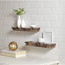 better homes and gardens wall decor better homes and gardens 2 piece decorative shelf set brown