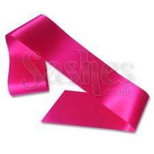blank sashes hot pink blank sash print your own sash