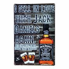 retro drinking whiskey ad coffee iron metal tin sign home bar wall