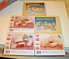 dining room table kits 3 doll house furniture kits u0026 2 build a furniture bathroom dining