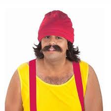 Cheech Chong Halloween Costume Cheech Mexican Costume 4419 Mexican Costume Mullet Wig