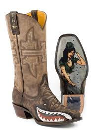 tin haul sharky with bomb sole cowboy boots urban western wear