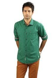 urban touch men u0027s casual shirt blue u0026 green homeshop18 com