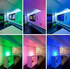 Colorful Interior Lights City Condo Colorful Cinema Style Interior Design