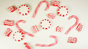 polymer clay christmas candies candy cane peppermint candy ribbon