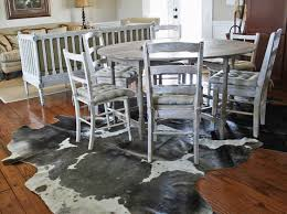 Cowhide Dining Room Chairs The Skinny On Decorating With Cowhide Rugs Cedar Hill Farmhouse