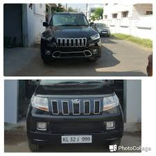 indian jeep mahindra mahindra tuv300 skinned to look like jeep cherokee