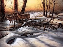 terry redlin terry redlin art deer in forest terry redlin art