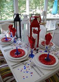 day table decorations independence day table decorations