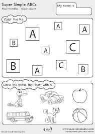 free worksheets abc sheets for kindergarten free math