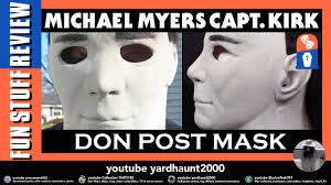 michael myers don post capt kirk halloween latex mask review and